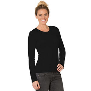 Eddie Bauer Ladies Long Sleeve Scoop Neck Cotton Modal Tee (Assorted Colors)
