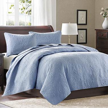 Microfiber 3-Piece Coverlet Set