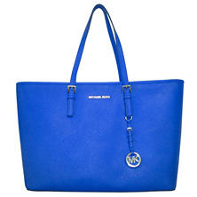 Jet Set Saffiano Leather Top-Zip Tote Bag by Michael Kors