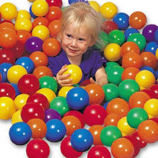 100 PVC Balls w/Carry Bag