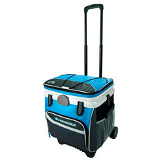 Blue Rolling Cooler - 36 Qt MaxCold