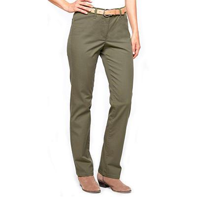 Khaki & Co. Wrinkle Resistant Flexible Waist Pant with Tummy Control