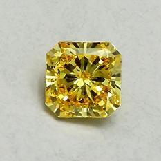 .99 ct. Radiant Lab-Grown Diamond (Fancy Vivid Yellow, VVS1)