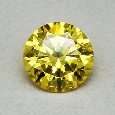 1.25 ct. Round Brilliant Lab-Grown Diamond (Fancy Vivid Yellow, VVS2)