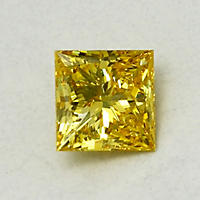 1.81 ct. Princess Cut Lab-Grown Diamond (Fancy Vivid Yellow, VVS2)