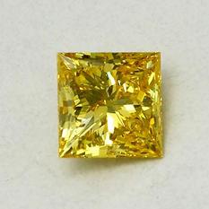 1.81 ct. Princess Cut Lab-Grown Diamond (Fancy Vivid Yellow, VVS2)