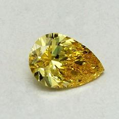 1.25 ct. Pear Shape Lab-Grown Diamond (Fancy Vivid Yellow, VVS1)