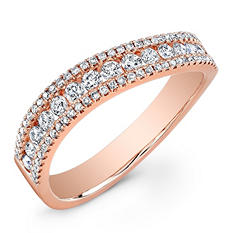 0.56 ct. t.w. Diamond Band in 14K Rose Gold (G-H, SI-SI2)