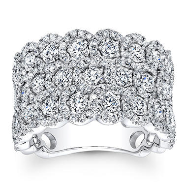 3.00 ct. t.w. Triple Row Diamond Band in 14K White Gold (G-H, VS2-SI1)