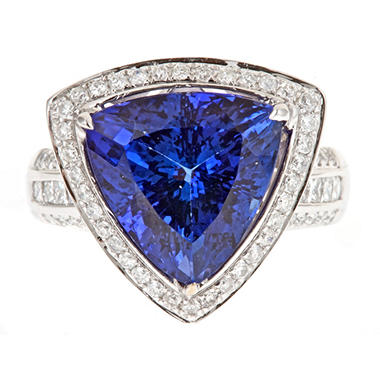 D?Yach Tanzanite and Diamond Ring in 18k White Gold