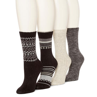 Burlington Women's 4-Pack Wool Blend Crew Socks (Assorted Colors)