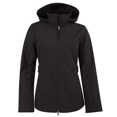 Ladies Hooded Softshell Jacket (Assorted Colors)