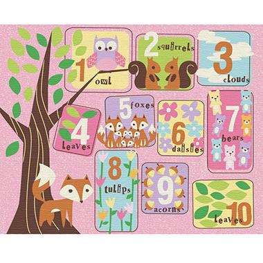 "Teach Me Educational Rug 52"" X 64"" - Various Educational Designs"