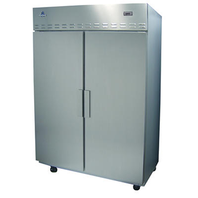 Ascend 2-Door Stainless Steel Reach-In Top-Mount Freezer - 40 cu. ft.