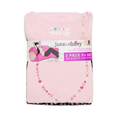 June&Daisy Two-Piece Knit PJ Set (Assorted Colors)