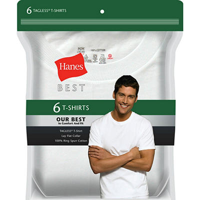 Hanes Best 6-Pack Crew T-Shirt - Assorted Colors