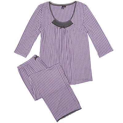 3/4 Sleeve Pajama Sleep Set  (Assorted Colors)