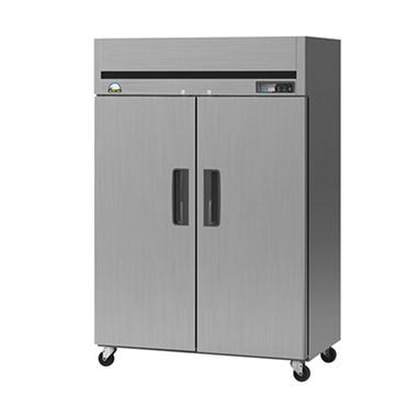 BlueAir BSF49T 2-Door Top-Mount Reach-in Stainless Steel Freezer