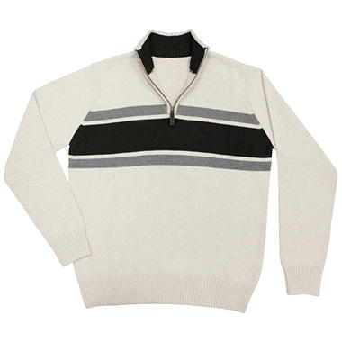 Men's Quarter Zip Sweater - Various Colors