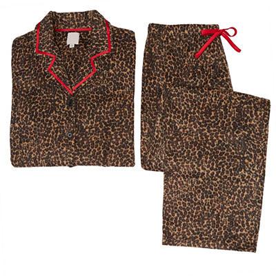 Fleece Notch Collar Pajama Set (Assorted Colors)