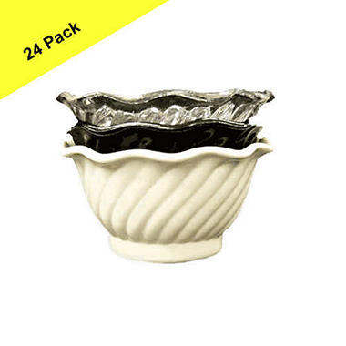 Dessert Swirl Bowl - 5 oz. - 24 pk.  Clear