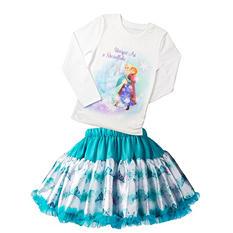 Elsa & Anna Frozen 2 pc. Girls Tee & Skirt Set