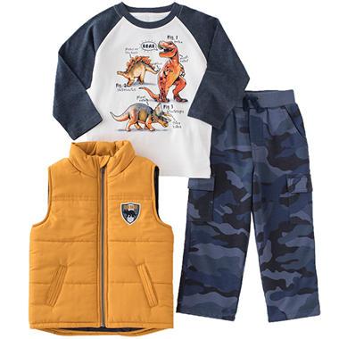 Kids Headquarters Boy's 3-pc. Vest Set