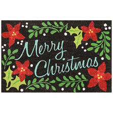 Mohawk Home Holiday Mat, Christmas Floral