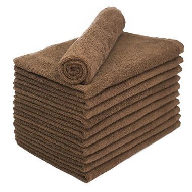 Bleachsafe� Salon Hand Towels - Brown - 24 pk.