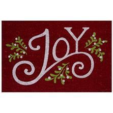 Mohawk Home Holiday Mat, Mistletoe Joy