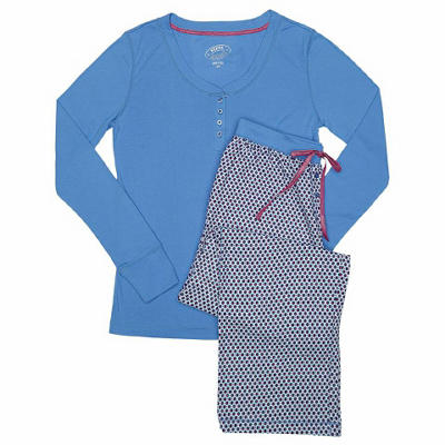 2 Piece Henley and Pant PJ Set (Assorted Colors)