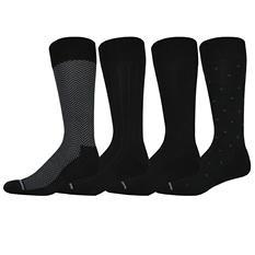 Nautica Men's Dress Crew Socks in Herringbone Assortment - Various Colors (4 pk.)