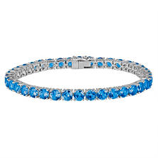 Tanzanite Bracelet in 14K White Gold
