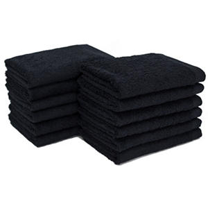 "Bleachsafe® 13""x13"" Wash Cloths -  Black - 24 pk."