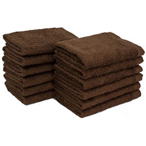 "Bleachsafe? 13""x13"" Wash Cloths - Brown - 24 pk."