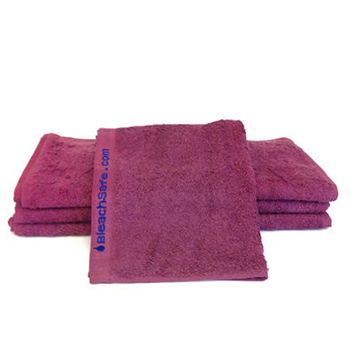 "Bleachsafe® 13""x13"" Wash Cloths - Wine - 24 pk."