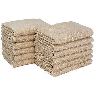 "Bleachsafe� 13""x13"" Wash Cloths - Tan - 24 pk."