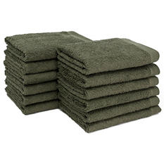 "Bleachsafe® 13""x13"" Wash Cloths - Green - 24 pk."