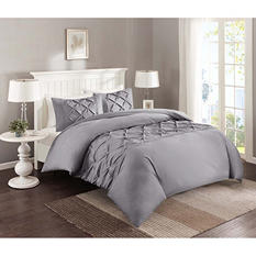 Pintuck 4-Piece Comforter Set