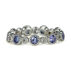 Sterling Silver Stackable Flex-Band Ring - Your Choice of 8 Gemstones