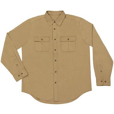 Men's Long Sleeve Canvas Shirt - Various Colors