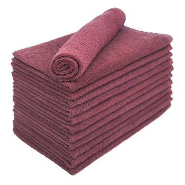 Bleachsafe� Salon Hand Towels ? Wine - 24 pk.