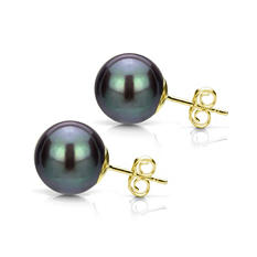 8-9 mm Freshwater Pearl Stud Earring (Assorted Colors)