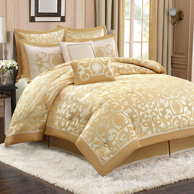 """Sheldon"" Luxury 8 Piece Bedding Set - Various Sizes"