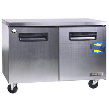 BlueAir 2-Door Stainless Steel Under-Counter Freezer - 13 cu. ft.