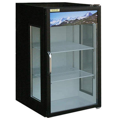BlueAir BAGR7 Glass Door Reach-In Merchandiser - Black - 7 cu. ft.