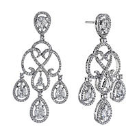 3.0 ct. t.w. Diamond Chandelier Earrings in 14K White Gold