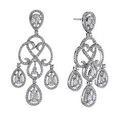 3.0 ct. t.w. Diamond Chandelier Earrings in 14K White Gold
