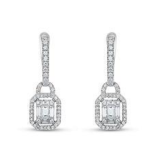 .81 ct. t.w. Diamond Earrings in 14K White Gold