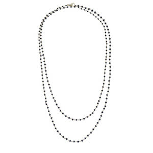 14 ct. t.w. Black Necklace in 14K White Gold
